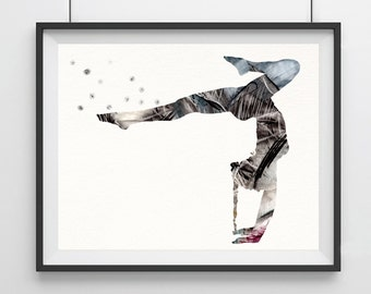 Yoga print Yoga pose print Watercolor yoga art Yoga posture Yoga poster Yoga studio decor Wall decor Wall hanging  decor Yoga gift-73