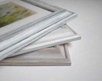 shabby chic frame 13x19 frame picture frame distressed trendy frame rustic frame 33x48cm wood frame wash white rusticframeshop