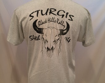 90s 54th Sturgis Black Hills Rally vintage tshirt, BEST Fruit of the Loom, size L, Made in USA