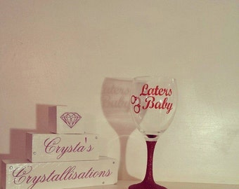 Laters Baby - Mr Grey Glitter Glass