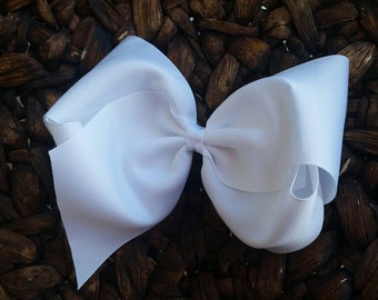 Large Southern Style Bow - Southern Style White Bow - Southern Bow - Big Jumbo White Bow -Southern White Bow - 4th Of July Big Bow - Very B