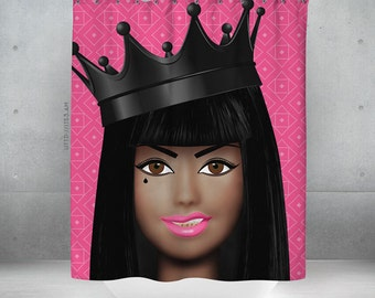 Trap Queen Shower Curtain - 70x70 | Made to Order |