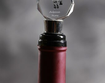 Ardennes horse, Crystal Wine Stopper with Horse, Wine and Horse Lovers, High Quality, Exceptional Gift
