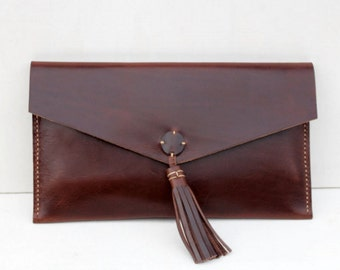 Clutch - leather hand bag