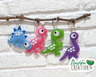Dinosaur-shaped keyrings