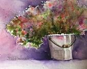Flower Painting, Floral Watercolor, Wall Art, Bedroom Decor, Cabin Decor, Office Decor, Nursery Decor, Original Fine Art, Modern Floral Art