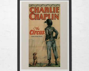 CLASSIC FILM POSTER -  Charlie Chaplin Poster - Chaplin The Circus Movie Poster,  Movie Poster, Classic Movie Poster