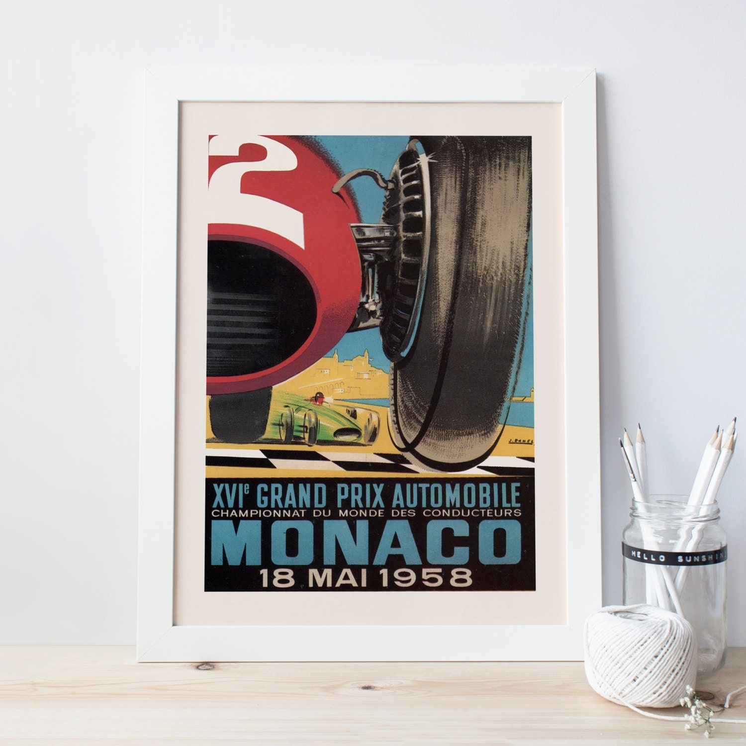 Vintage grand prix poster classic art deco poster ikea for Poster ikea