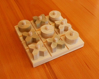 Tic Tac Toe wood toy, kids toy, classic game.