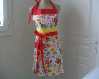 "Retro kitchen apron ""exotic L"