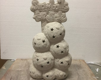 """Ceramic Bisque """"Snowballs For Sale"""" Ready To Paint"""