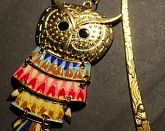 Bookmarks OWL gold