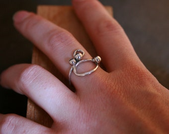 Simple Bubble Ring in Sterling Silver