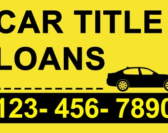 Car loans banner sign 3 x 2 Ft