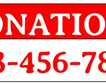 Donations banner  3 x 2 Ft