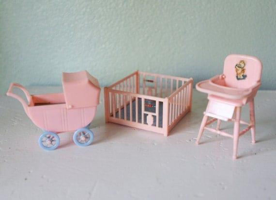 Vintage Plastic Dollhouse Furniture