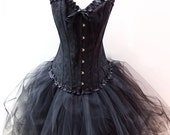 Womens New Years Eve Holiday Christmas Party Corset and Tulle Skirt Made to Measure