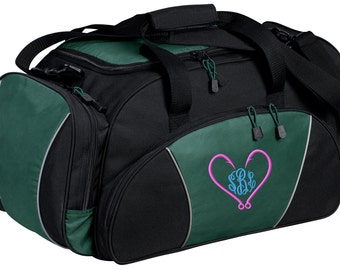 Fishing Gym Bag - Personalized - Monogrammed - Embroidered - Sports Bag - Sports Gift - Hooks Duffle Bag - BG91