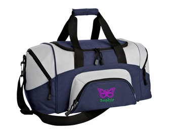 Butterfly Gym Bag - Personalized - Monogrammed - Embroidered - Sports Bag - Sports Gift - Butterfly Duffle Bag - BG990s