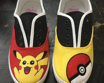 Pokemon pikachu custom shoes