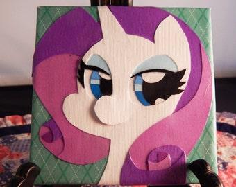 "Rarity Papercraft 4""x 4"" Canvas"