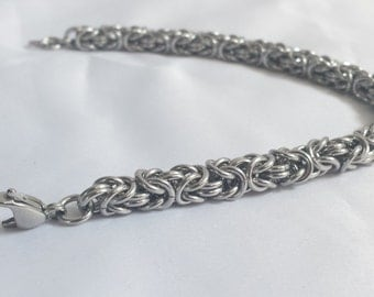 Chainmail Bracelet - Stainless Steel Byzantine Weave