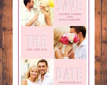 Save-The-Dates Invitation Photo Engagement Announcement Invitations Wedding Invites Modern Save The Date Modern Digital Printable STD016