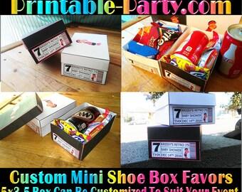Printable Custom Mini Shoe Box   Custom Favor Boxes   Personalized Treat Box   Party Box