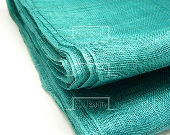 Machining Colored SINAMAY Materials Cloth Fabric DIY 90 cm x 100 cm - Green