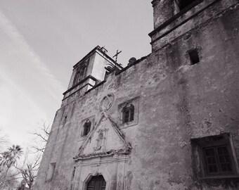 San Antonio Missions Concepcion Photography, Texas History Art, Catholic Church, Religious Architecture