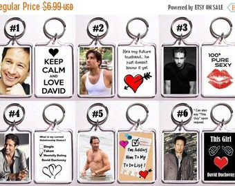 ON SALE NOW David Duchovny Keychain Key Ring - Many Designs To Choose From