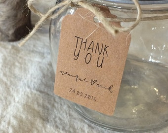 Wedding Thank You Tags | Wedding Favour Tags | Personalised Thank You Tags | Lily Collection