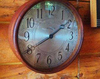 Vintage Round Ingraham Clock Brought Back to Life