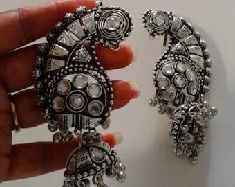 Full Cover Silver Earrings