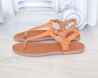 Ancient Greek leather sandals handmade sandals,   Spartan sandals, Roman sandals,  Flip Flop Sandals, Jesus Sandals