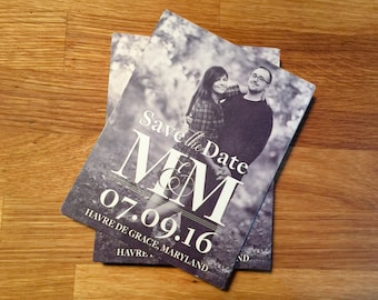Monagram Printable Save the Date - Custom made postcard/card