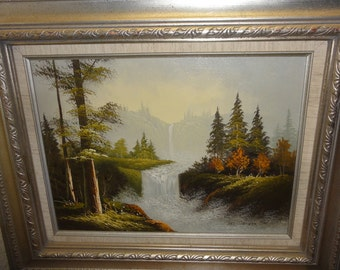 Vintage Art Foxer Landscape Oil Painting