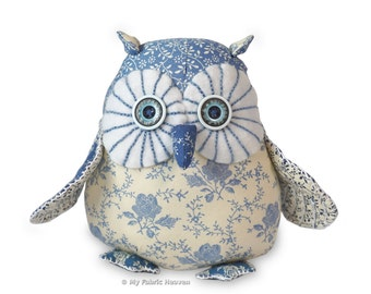 "Twinkle Starry-Eyed Owl, 6"" Soft Toy. Printed Sewing PATTERN & Easy Instructions"