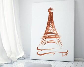 Paris, Paris poster, Eiffel Tower poster, Eiffel Tower art, Gold Eiffel Tower, Paris print, Eiffel Tower print, Eiffel Tower sketch