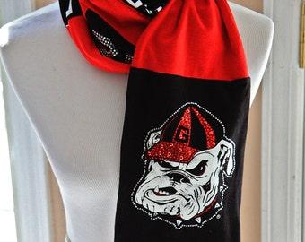 University of Georgia Bulldogs Scarf, Go Dawgs, Game Day, Accessories