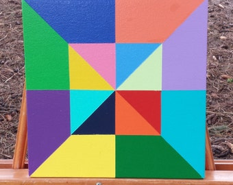 """12"""" X 12"""" Mini Barn Quilt, Barn Art. Don't Have a Barn? No Problem! Barn Quilts for the rest of us!"""