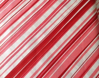 Chemistry by Cosmo Cricket for Moda, Red and white  diagonal stripe fabric, Fabric by the yard, Cut from the bolt, OOP