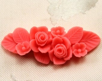 3-Cavity Rose Fondant Mold Flexible Silicone Chocolate Mould Resin Mold Jewelry Soap F0166