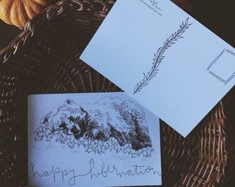 Postcard –– Happy Hibernation