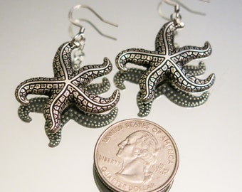Ocean Silver Earrings