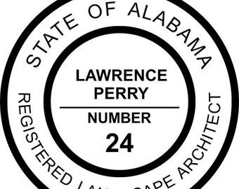 15% OFF NOW Alabama Landscape Architect Stamp Seal - Self-Inking Stamp - (AL_landscape_architect)