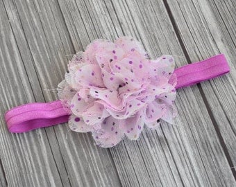 Polka Dot Lace Headband