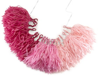 Pink Ombe Tassel Garland Kit