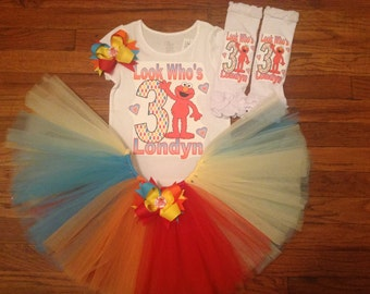 Red Monster Girl TuTu Set