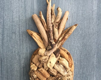 Driftwood Pineapple  / Small Tropical Decor / Ornament